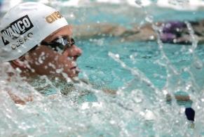 Cesar Cielo nada os 50m livre no Pan-Pacífico