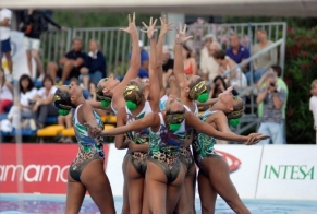 Equipe brasileira fica em 6º lugar na Copa FINA de nado sincronizado