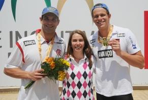 Flamengo conquista duas medalhas de ouro e uma de prata