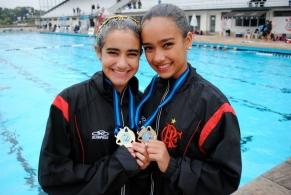 Dueto do Fla é destaque em Brasileiro Juvenil de Nado Sincronizado