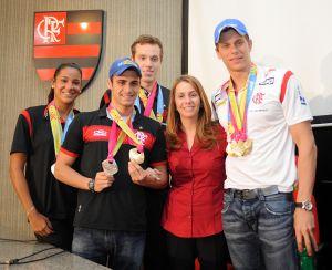Campeões do Pan de Guadalajara apresentam suas medalhas