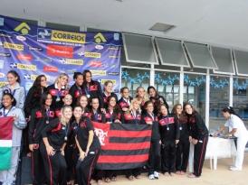 Flamengo é pentacampeão brasileiro no nado sincronizado