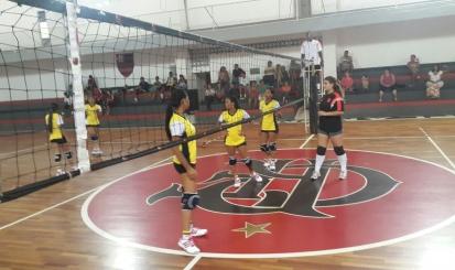 Vôlei Mirim do Flamengo vence amistoso contra Colômbia