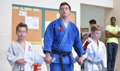 Breno Viola compete nos Jogos Mundiais de Judô da Special Olympics