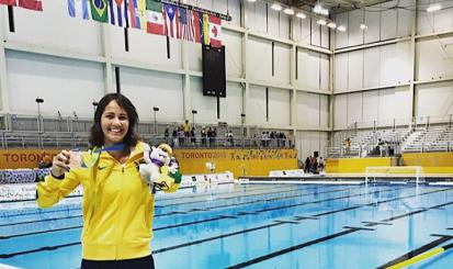 Marina Canetti recebe medalha de bronze no Pan