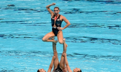 Rubro-negras no nado em mais uma final do Mundial de Kazan
