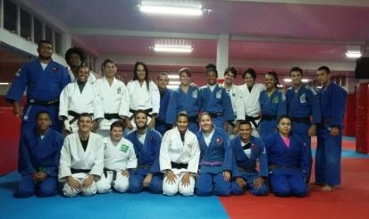 Seleção de judô treina na Gávea antes do Mundial
