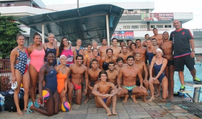 Polo aquático faz intercâmbio com Seleção dos Estados Unidos