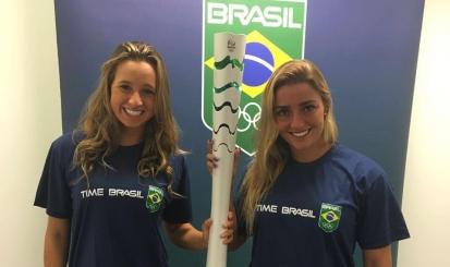Garantidas na Rio-2016, Maria Clara Lobo e Lorena Molinos marcam presença em evento do COB