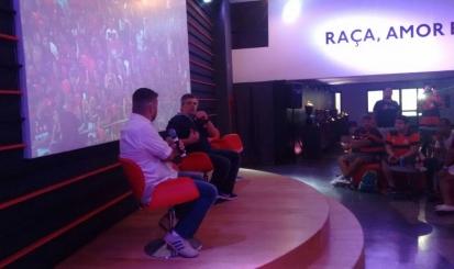 Casa Flamengo recebe repórter esportivo Sérgio Américo