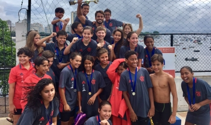 Com quebra de recorde, Flamengo é campeão do II Troféu Rômulo Arantes de natação