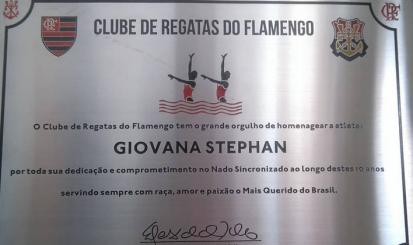 Atletas do Nado Sincronizado são homenageadas pelo clube