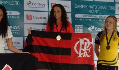 Flamengo conquista seis medalhas no Brasileiro Infantil de natação