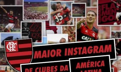 Flamengo torna-se o maior perfil de clubes da América Latina no Instagram