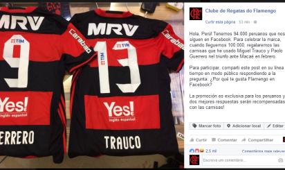 Flamengo lança ação para peruanos no Facebook