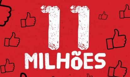 Flamengo chega a 11 milhões de curtidas no facebook
