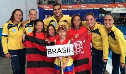 Flamengo leva sete atletas a competição internacional de nado e volta com três ouros