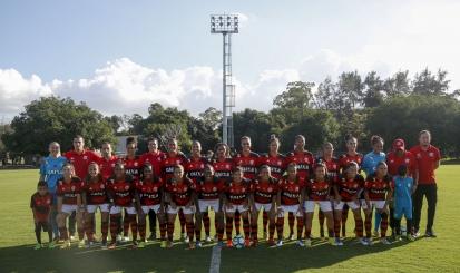 Raquel e Bárbara marcam nos acréscimos e Flamengo/Marinha empata com Iranduba