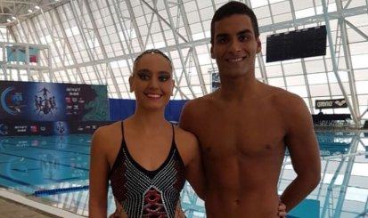 Dupla rubro-negra do Nado Sincronizado se prepara para o Mundial de Esportes Aquáticos