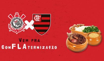 Corinthians x Flamengo: Ingressos à venda para ConFLAternização na Gávea com roda de samba e feijoada liberada