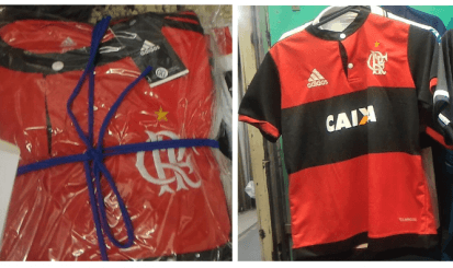 Flamengo apreende R$1,5 milhão em produtos piratas