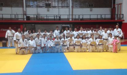 Festival de Exame de Faixas do Judô reúne atletas em confraternização