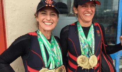 Remadoras do Flamengo conquistam onze ouros no Campeonato Brasileiro Master