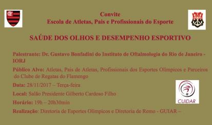 """Palestra """"Saúde dos Olhos e Desempenho Esportivo"""" é realizada na Gávea"""