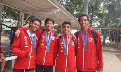 Flamengo conquista quatro medalhas no Campeonato Jovens Talentos do Remo