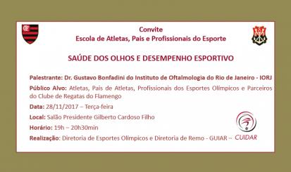 """CUIDAR promove palestra """"Saúde dos Olhos e Desempenho Esportivo"""""""