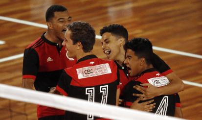 Flamengo vence na estreia do Campeonato Brasileiro Interclubes de Vôlei