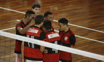 Flamengo empata série semifinal do Campeonato Estadual de Vôlei Masculino