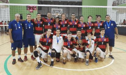 Flamengo conquista o título do Campeonato Estadual de Vôlei em duas categorias