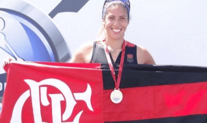 Remadora medalhista de prata no Sul Americano volta a atuar pelo Flamengo