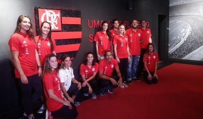 Flamengo apresenta suas novidades na piscina para a temporada 2018