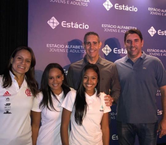 Representantes do Flamengo prestigiam evento da Estácio