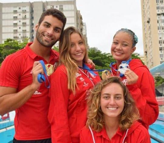 Flamengo conquista cinco ouros no Festival de Solo Técnico de Nado Artístico