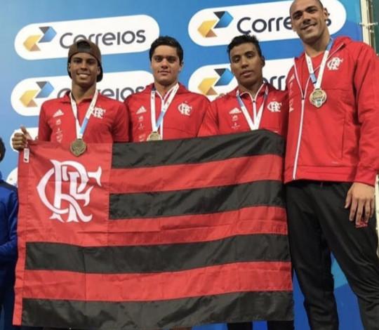 Flamengo termina em quinto lugar o Troféu Brasil de Natação