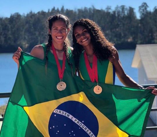 Milena Vianna e Isabelle Falck conquistam três medalhas no Sul-Americano Sub 23 de Remo