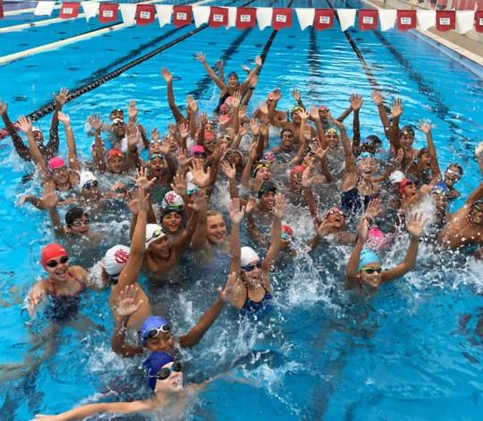 Flamengo realiza clínica de natação com Ruta Meilutyte