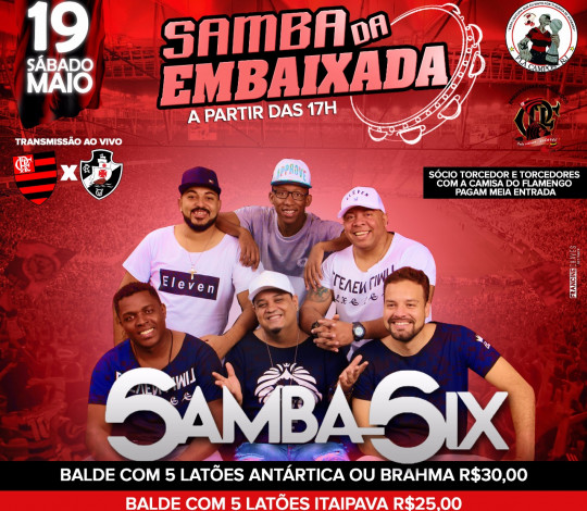 Samba e Mengão na Embaixada Fla Campos-RJ