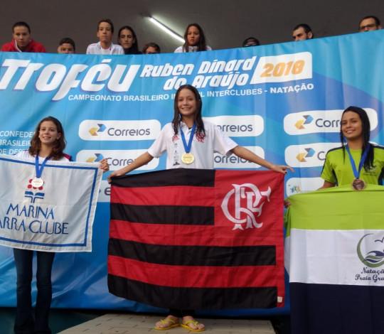 Flamengo conquista três ouros no Campeonato Brasileiro de Natação Infantil