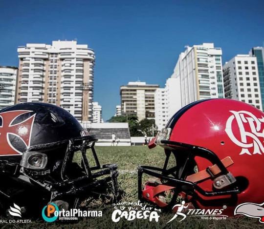 Flamengo Imperadores e Vasco Patriotas duelam pelo título do Carioca de Futebol Americano