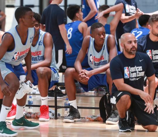 Fernando Pereira e João Vitor Belmiro participam de Camp da NBA