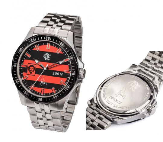 Loja FLA recebe lançamento do relógio do Maestro Junior com presença do craque