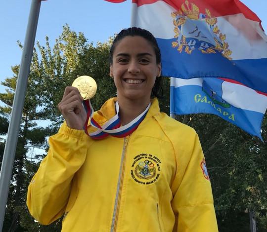 Nathália Almeida e Daiene Dias conquistam o ouro no Mundial Militar de Natação