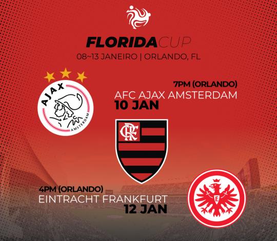 Flamengo estreia na Flórida Cup contra Ajax