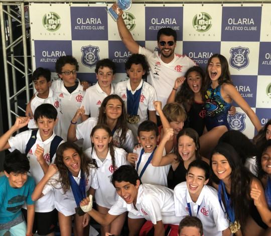 Flamengo disputa o Festival CBDA Sudeste de Natação Mirim e Petiz