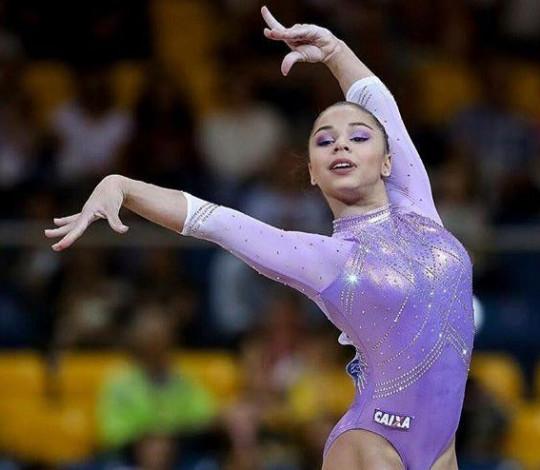 Flavia Saraiva conquista a 5ª colocação no solo no Campeonato Mundial de Ginástica Artística