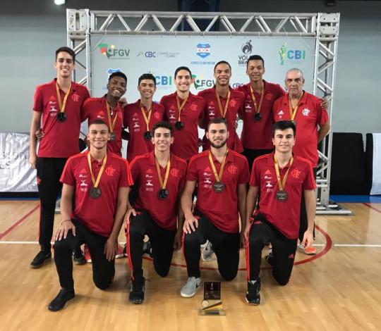 Flamengo conquista o bronze no Brasileiro Interclubes Sub-19 de Vôlei